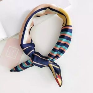 Accessories - The Alex - Blue, Pink, & Gold Neck Scarf